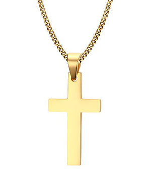 SHIP BY USPS Cross Necklace, Quantum 3mm Stainless Steel Pendant Chain for Men Women