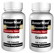 SHIP BY USPS: Graviola 1150 mg, 120 capsules (2 BOTTLES) by AmerMed