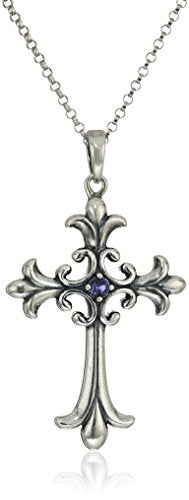 SHIP BY USPS: Sterling Silver Oxidized 2.5mm Celtic Cross Pendant Necklace