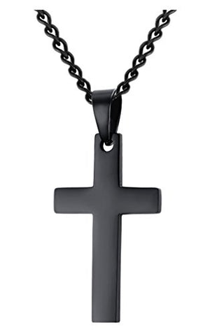 SHIP BY USPS: Jenhianeck Hip Hop Stainless Steel Cross Tag Pendant Necklace With 55CM Chain