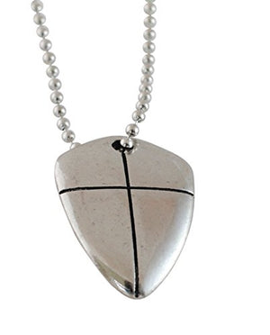 "SHIP BY USPS: Pendant-Shield Of Faith Cross-24"" Chain Necklace"