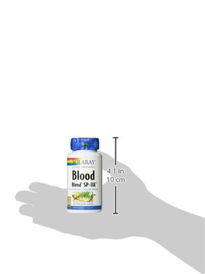 SHIP BY USPS: Solaray Blood Blend SP-11A Capsules, 100 Count