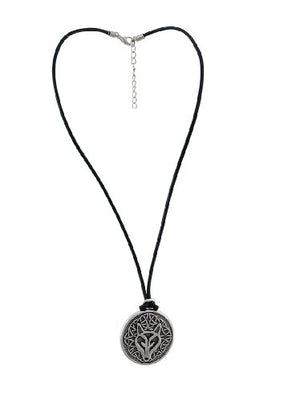 SHIP BY USPS: Deva Designs Celtic Wisdom Wolf Head Necklace Pendant Pewter