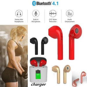 Wireless Bluetooth In-ear Twins Earphones Stereo Sport Running Headset with Portable Charging Case for Phone