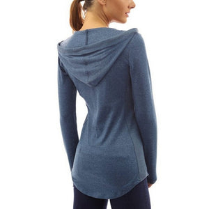 Women Pocket Hoody Hoodie Long Sleeve Slim Sweatshirt Pullover Jumper Coat Tops