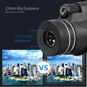 40X/10X-30X Zoom Outdoor Travel Monocular Telescope Camera Lens+Phone Clamp+Tripod For Smart Phones
