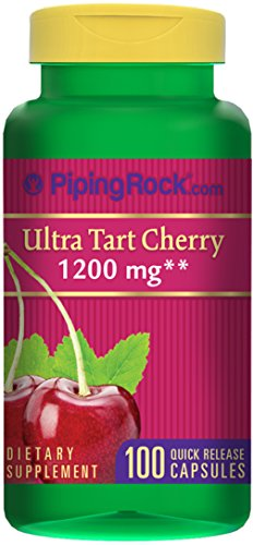 Piping Rock Ultra Tart Cherry 1200 mg 100 Quick Release Capsules Dietary Supplement