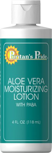 Puritan's Pride Aloe Vera Moisturizing Lotion with Paba-4 oz Lotion