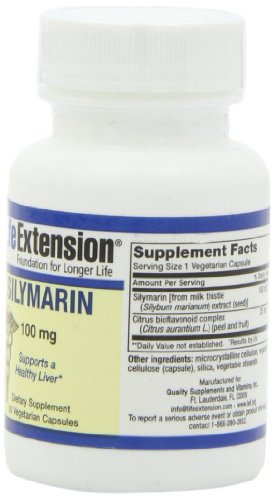 SHIP BY USPS: Life Extension Silymarin 100 Mcg, 50 vegetarian capsules