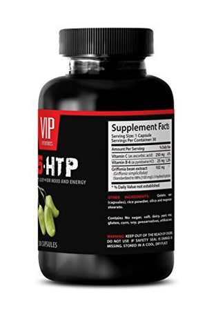 5 htp with vitamin b6 - L-5-HTP for a good night's sleep, for mood and energy - Natural relaxant - 1 Bottle 30 Capsules