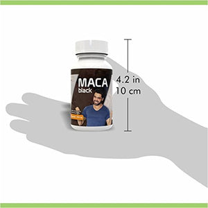 Black Maca Capsules for Men - Gelatinized, Strongest, Pure - From Peru - Energy, Libido Booster, Vitality, Testosterone,...