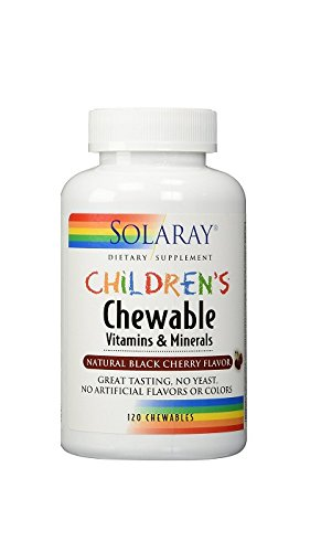 [Pack of 2] Solaray Children's Chewable Vitamins & Minerals, Black Cherry Flavor, 120 Count Each