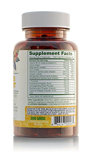 SHIP BY USPS Thyroid Support Complex With Iodine For Energy Levels, Weight Loss, Metabolism, Fatigue & Brain Function -...