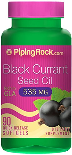 Black Currant Seed Oil 535 mg 90 Quick Release Softgels Rich in GLA Dietary Supplement