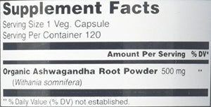 Amazing India Ashwagandha 500 Mg 120 Veg Capsules * Promotes healthy Immunity Supports Stress Management...