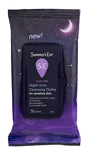 [Pack of 2] Summer's Eve Night-Time Cleansing Cloths for Sensitive Skin - PH-Balanced - Help Wipe Away Odor-Causing Bacteria -...