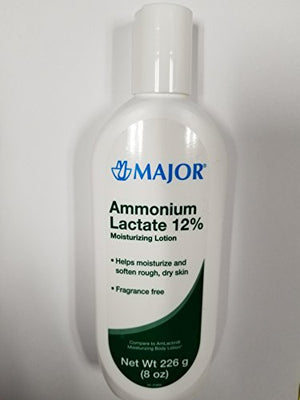 [2 PACK] AMMONIUM LACTATE 12% MOISTURIZING LOTION 226GM (8 OZ) EACH (PACK OF 2)COMPARE TO THE...