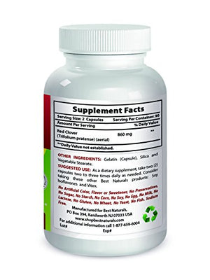 Best Naturals Red Clover 430 mg 180 Capsules