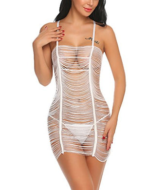 Women Lingerie Tassel Babydoll Hollow out Cover up