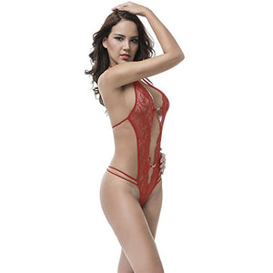 Sexy Lingerie Teddy One Piece Lace Babydoll Bodysuit for women One Piece Halter lace Teddy sexy intimates