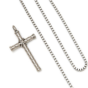 SHIP BY USPS: Sunflower Jewellery Stainless Steel Vintage Cross Pendant Necklace 18K Gold Chain Necklace For Men, Women