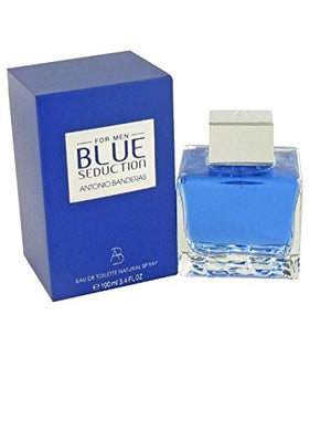 SHIP BY USPS Blue Seduction by Antonio Banderas for Men. Eau De Toilette Spray 3.4-Ounces