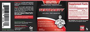 Best Natural Testosterone Booster, TESTROSITY. Advanced Horny Goat Weed Saw Palmetto Tongkat Ali Root...