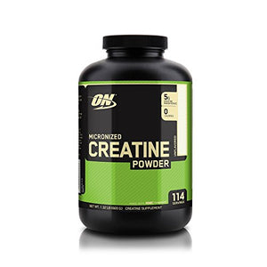 [2 Bottles] Optimum Nutrition Micronized Creatine Monohydrate Powder, Unflavored, 600g Each