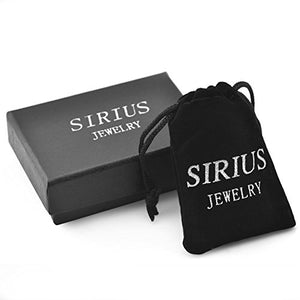 SHIP BY USPS Sirius Jewelry Mens Fashion Gift Cross Stainless Steel Pendant Necklaces with Gift Box, 22 24 26 inches