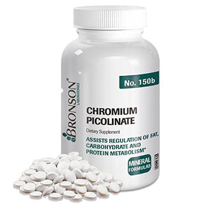Bronson Chromium Picolinate, 250 Tablets