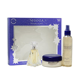 SHIP BY USPS Shania Twain Starlight Gift Set for Women (Eau De Toilette Spray, Body Mist, Body Souffle)