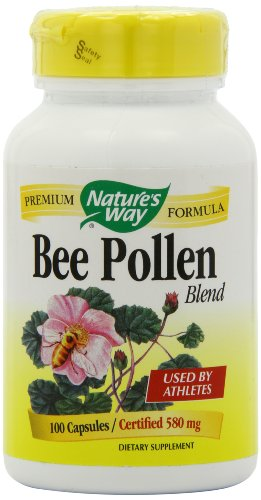 SHIP BY USPS: Nature's Way Bee Pollen, 580 mg, 100 Capsules