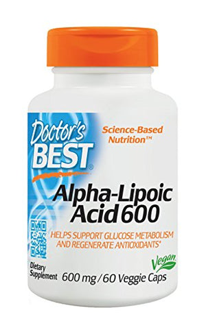 [2 Bottles] Doctor's Best Alpha-Lipoic Acid, Non-GMO, Gluten Free, Vegan, Soy Free, Promotes Healthy Blood Sugar, 600 mg,...