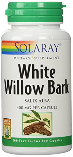 SHIP BY USPS: SHIP BY USPS: Solaray White Willow Bark Capsules, 400 mg, 100 Count