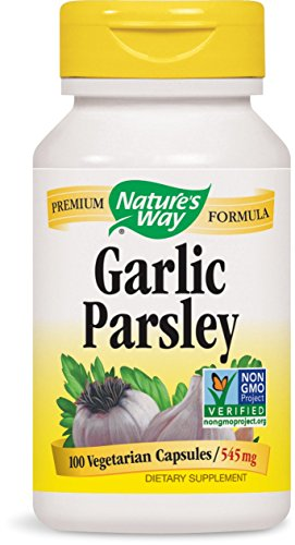 SHIP BY USPS: Nature's Way Garlic & Parsley 545 Mg, 100 Vcaps, 100 Count