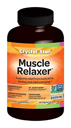SHIP BY USPS Crystal Star Muscle Relaxer Herbal Supplements, 60 Count