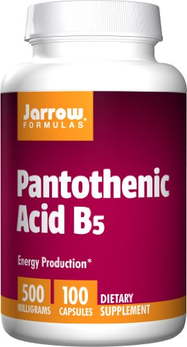 SHIP BY USPS: Jarrow Formulas - Pantothenic Acid 500 mg 100 Capsules