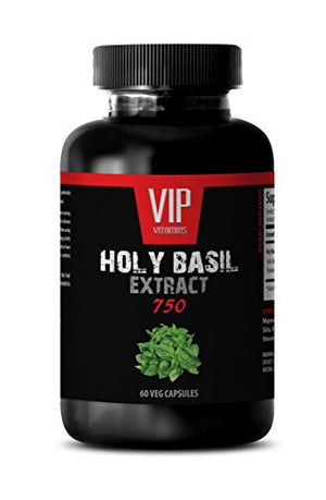 SHIP BY USPS Holy basil extract - HOLY BASIL EXTRACT 750 - Sexual enhancement for men - 1 Bottle 60 Veg. Capsules