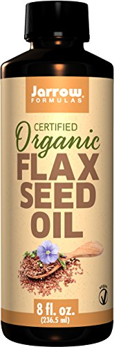SHIP BY USPS: Jarrow Formulas Fresh Pressed Flaxseed Oil, Source of Vegetarian Omega-3, Organic, 8 Fluid Ounce
