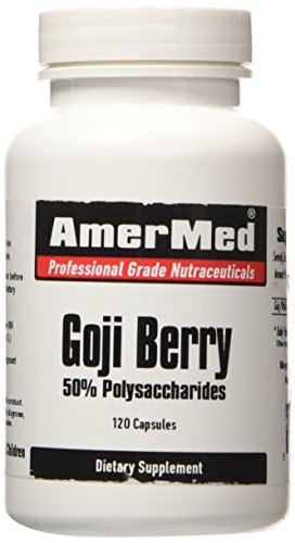 SHIP BY USPS: Goji Berry Extract (Wolfberry) - 120 Capsules - 30 day supply - 3200mg per serving - Amermed