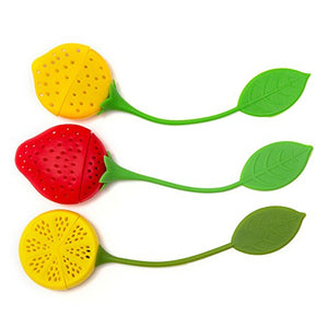 Silicone Tea Infuser & Strainer Gift Set (Colorful Fruits)