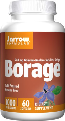 SHIP BY USPS: Jarrow Formulas Borage GLA, Supports Beauty and Women's Health, 1000 mg, 60 Softgels