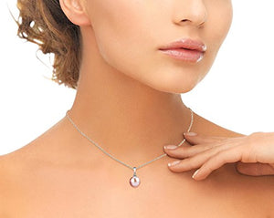 Genuine Pink Freshwater Cultured Pearl Sydney Pendant Necklace for Women