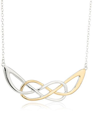 SHIP BY USPS: Sterling Silver Celtic Necklace, 18""