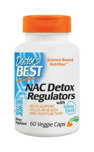 [2 Bottles] Doctor's Best NAC Detox Regulators with Seleno Excell, Non-GMO, Vegetarian, Gluten Free, Soy Free, 60 Veggie Caps