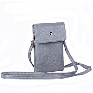 SHIP BY USPS: Small Crossbody Bag PU Leather Wallet Purse Cellphone Pouch with Shoulder Strap for Women Girls Fit iPhone X 8 7 Plus 6S/6 5S 5C Samsung Galaxy S8+ S7 S6 Edge S5 Katloo