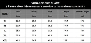 VOGRACE Women's Scoop Neck 3/4 Sleeve Bodycon Pencil Dress Club Party Mini Dress