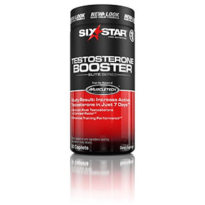 SHIP BY USPS: Six Star Testosterone Booster Supplement, Extreme Strength Testosterone, 60 Caplets