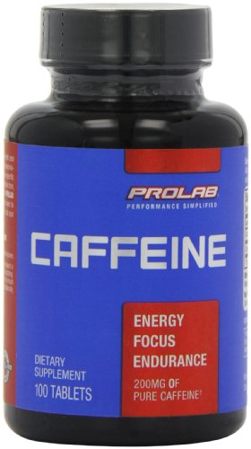 [2 Bottles] ProLab Caffeine Maximum Potency 200mg Tablets, 100-Count Each