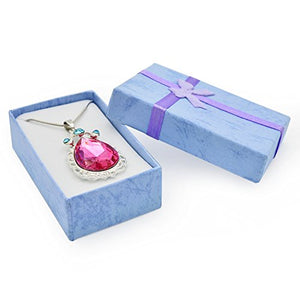 SHIP BY USPS:  Birthday Amulet Crystal Teardrop Necklace Fashion Jewelry Gift for Girls